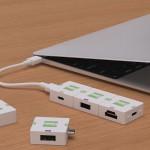 Модульный USB Type-C хаб Cusby для MacBook