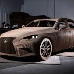 Рабочий электромобиль Lexus Cardboard IS Electric Car из картона