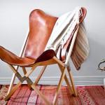 Складной стул Palermo Tripolina из кожи и дерева