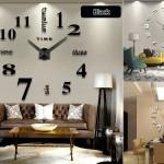 Самоклеящиеся настенные часы AIWALL DIY Wall Clock из металла и EVA