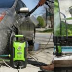 Ручная минимойка высокого давления GreenWorks GW1501 для автомобиля