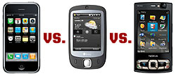 iPhone, HTC Touch and the Nokia N95