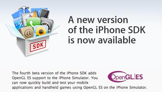 Вышла iPhone SDK beta 4.
