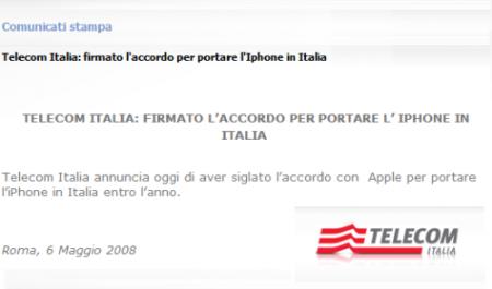 Telecom Italia тоже будет продавать iPhone в Италии?