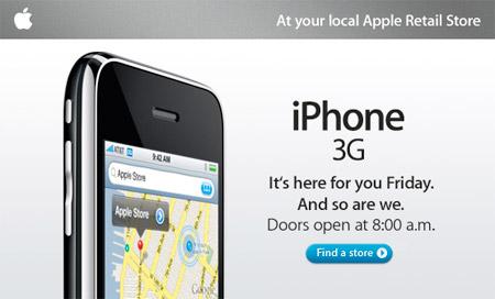 Во сколько начнутся продажи iPhone 3G