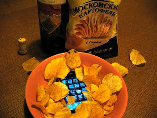 iphone в чипсах