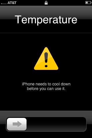 Реакция iPhone на высокую температуру