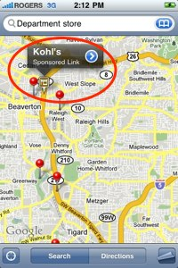 google maps iphone sponsored link