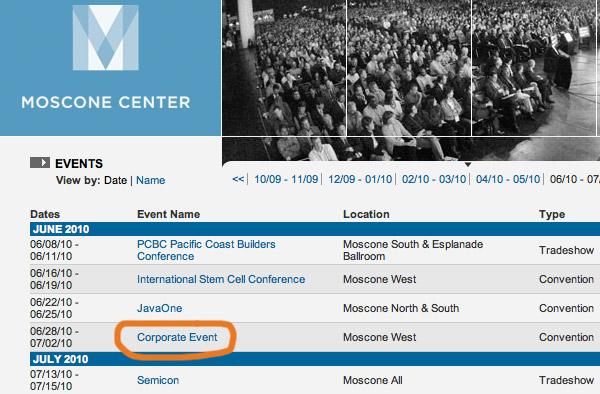 WWDC 2010 смещается дальше в лето?