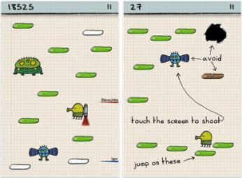 doodle jump – игра для iPhone и iPod Touch