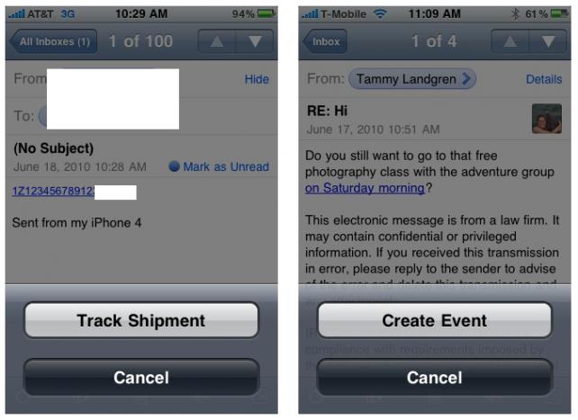 Новые возможности почты iOS 4