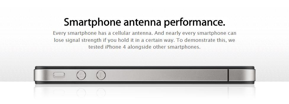 На сайте Apple появилась страничка, посвященная антенне