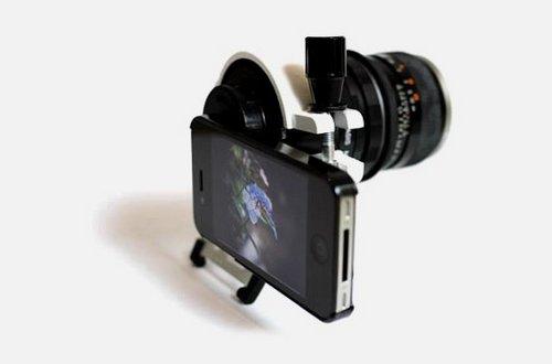 iPhone 4 и DSLR-объектив