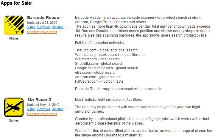 Ваше приложение плохо продается в App Store? Теперь есть место, где можно продать его исходники