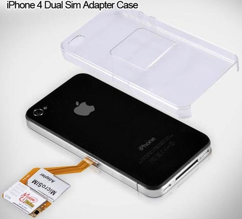 iPhone 4 Dual SIM Adapter Case: два оператора в одном телефоне