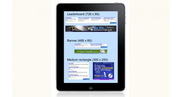 Google запускает рекламу для iPad