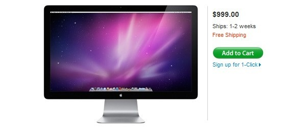 Начались поставки Apple LED Cinema Display 27″, но конкуренты тоже не спят