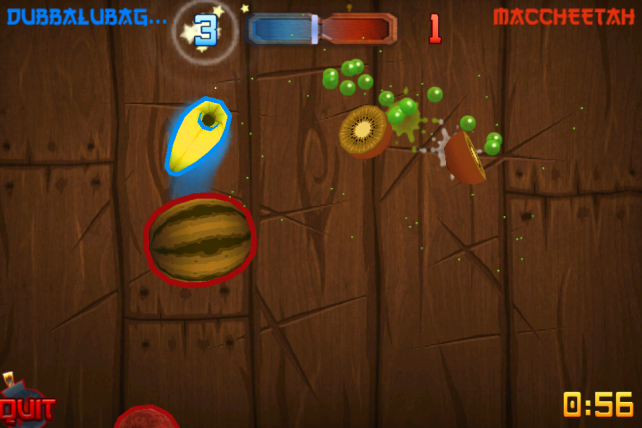 Fruit Ninja + Game Center = Online Multiplayer