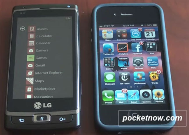 Windows Phone 7 против Apple iOS 4. Третий раунд