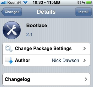 Bootlace  Android на iPhone 2G/3G без участия компьютера