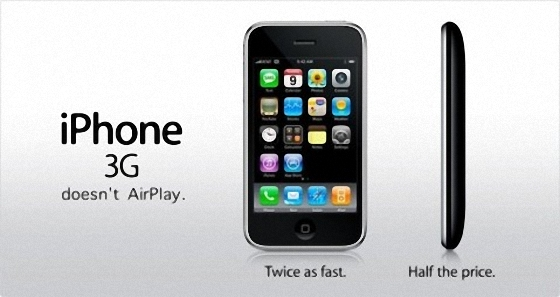 AirPlay на iPhone 3G не будет