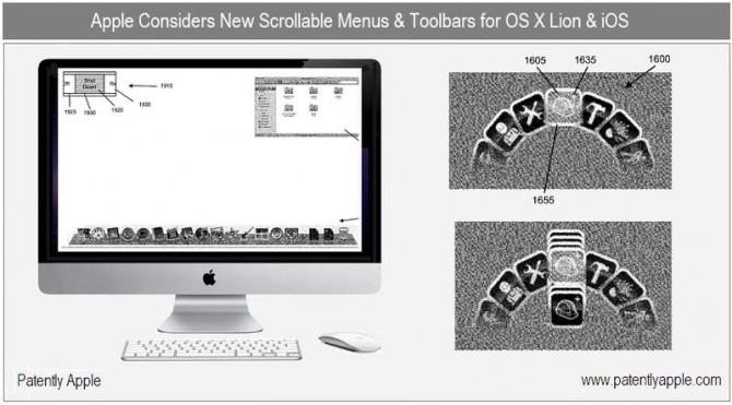 Новый патент на пользовательский интерфейс Mac OS X Lion