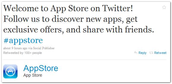 У App Store появился аккаунт в Twitter