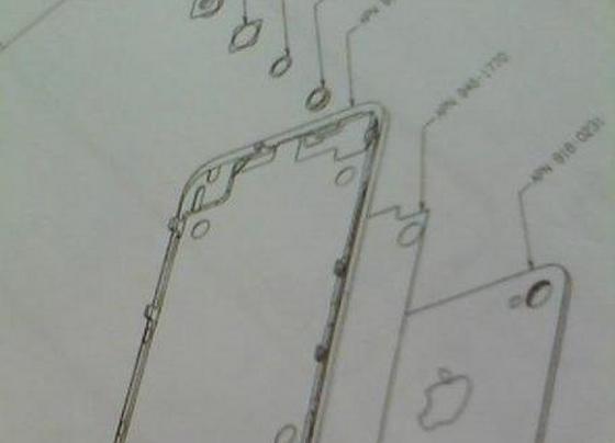 Чертеж запчасти CDMA-iPhone попал в Сеть