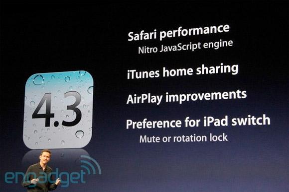 Нововведения iOS 4.3