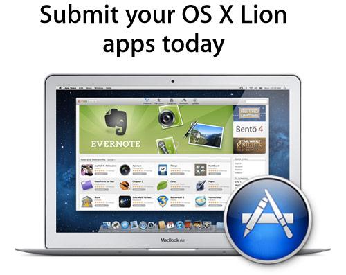 Apple призывает разработчиков отправить приложения для OS X Lion в Mac App Store