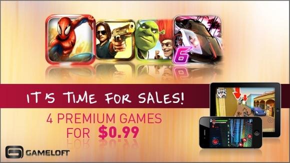 Gameloft распродает игры для iPhone, iPad и Mac тоже