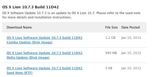OS X 10.7.3 уже на подходе