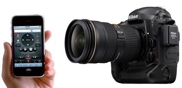 Новой камерой Nikon D4 можно будет управлять с iPhone и iPad