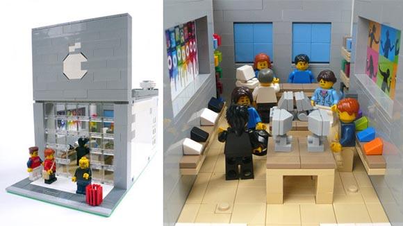Миниатюрный Apple Store из LEGO