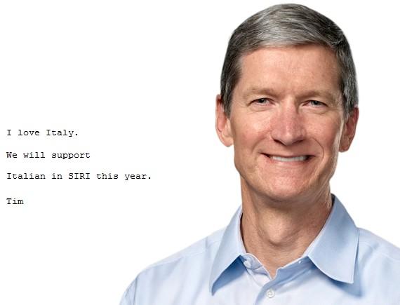 Тим Кук ответил на письмо о Siri