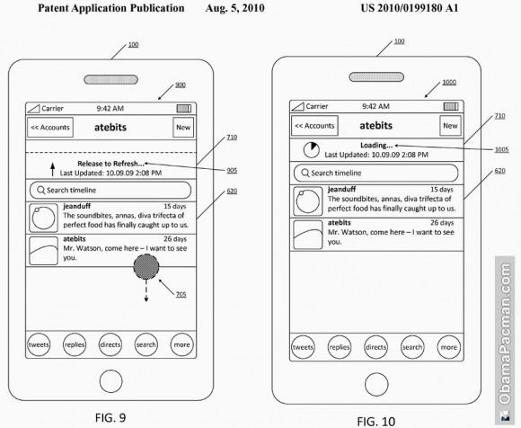 Twitter хочет запатентовать Pull to Refresh