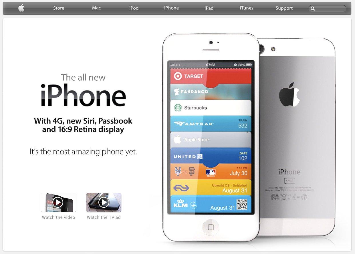 Идея странички нового iPhone на сайте Apple