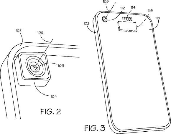 Патент на заднюю панель iPhone со съёмным элементом камеры