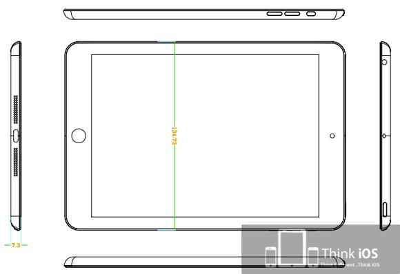 Чертёж iPad mini