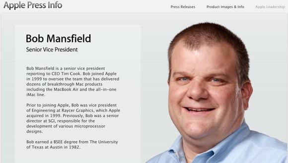 Apple корректирует должность Боба Менсфилда