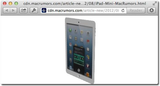 Интерактивный iPad mini в 3D