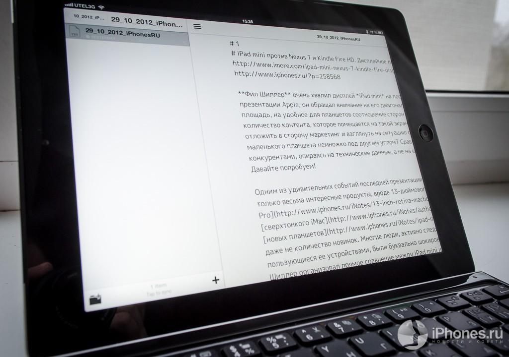 Опыт эксплуатации клавиатуры Logitech Ultrathin Keyboard Cover или как из iPad сделать ноутбук