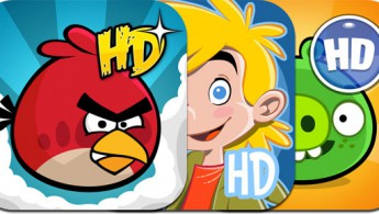 Angry Birds, Amazing Alex и Bad Piggies