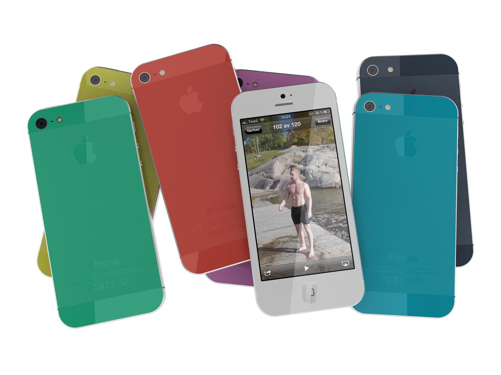 Разноцветные iPhone 5S с разными размерами экрана в июне