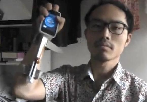 Механизм моментального ответа на звонок c iPhone от японского изобретателя