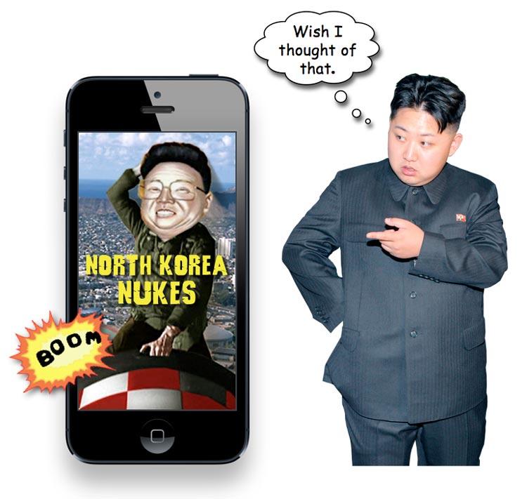 Пародийное приложение North Korea Nukes может появиться в App Store