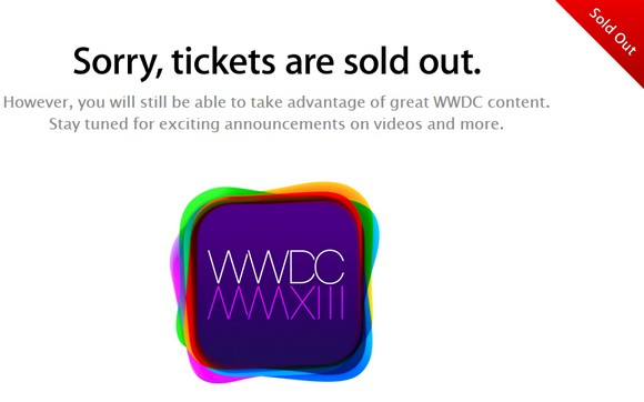 Билеты на WWDC 2013 распроданы за 2 минуты