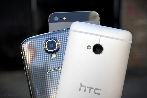 HTC One, Samsung Galaxy S4 и iPhone 5. Сравнение суперфлагманов