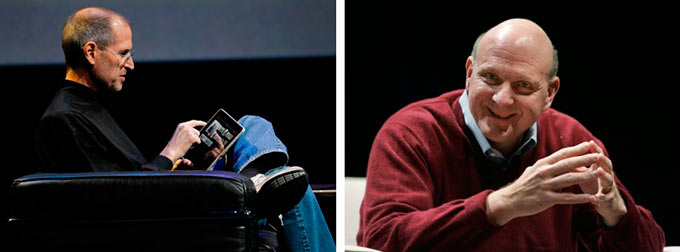 Стив Джобс и Стив Баллмер и их видение бизнеса