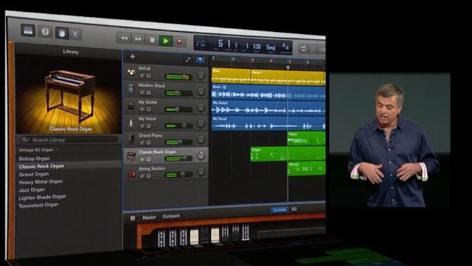 Apple обновила GarageBand для OS X